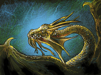 Drawing - Dragonbliss by Lynette Yencho
