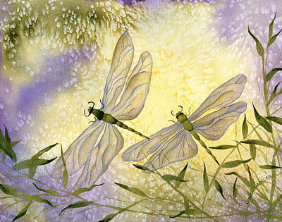 Painting - Dragonflies by Diane Ferron