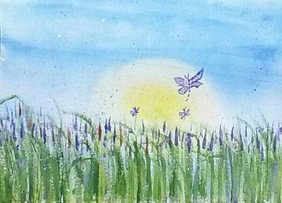 Painting - Dragonflies In The Tullies by Carol Duarte