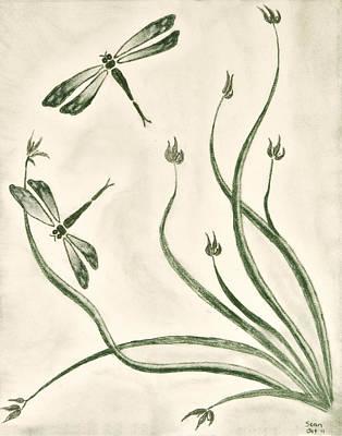 Dragonflies Art Print by Sean Mitchell