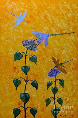 Odonata Painting - Dragonflies by Tim Townsend