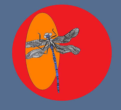 Dragonfly Art Print by Cherie Sexsmith
