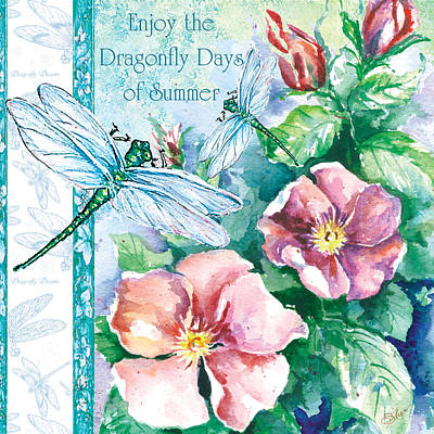 Painting - Dragonfly Days by Sher Sester