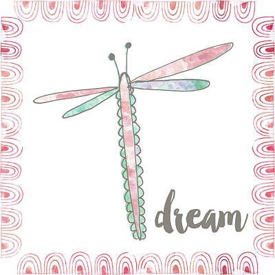 Inspirational Painting - Dragonfly Dream by Katie Doucette