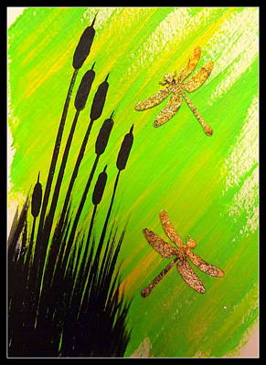 Dragonflies Mixed Media - Dragonfly Dreams by Darren Robinson