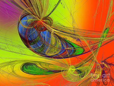 Digital Art - Dragonfly Fancy by Andee Design