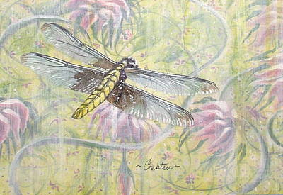 Painting - Dragonfly Fantasy by Elizabeth Crabtree