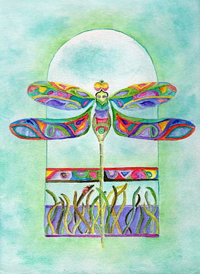Painting - Dragonfly Flight by Tamyra Crossley
