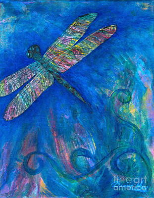 Painting - Dragonfly Flying High by Denise Hoag