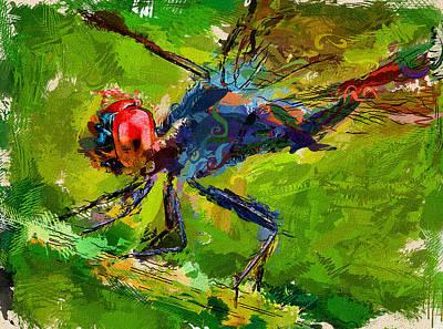 Digital Art - Dragonfly Hunting  by Yury Malkov