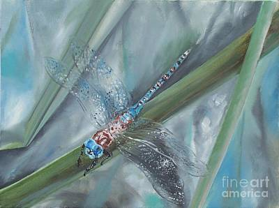 Dragonfly Art Print by Irene Pomirchy