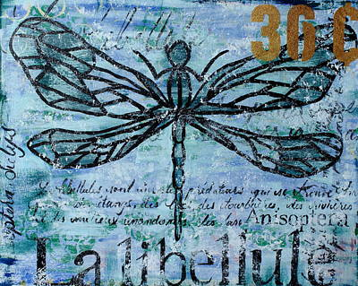 Abstract Painting - Dragonfly by Kayla Mallen