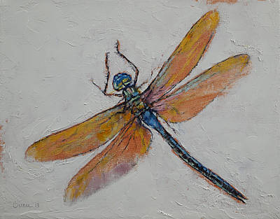 Libellule Painting - Dragonfly by Michael Creese