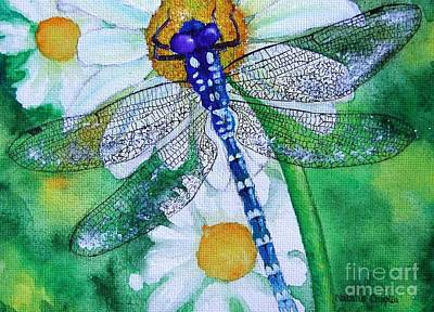 Dragonflys Painting - Dragonfly by Natalia Chaplin