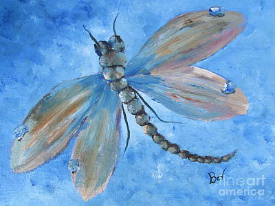Dragonfly-pastel Original by Beverly Livingstone