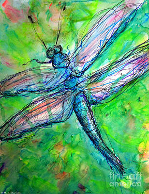 Painting - Dragonfly Spring by M C Sturman