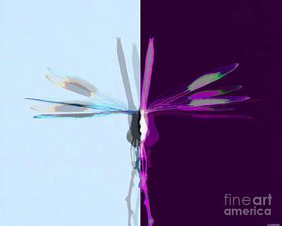 Digital Art - Dragonfly Work 1 by Lizi Beard-Ward