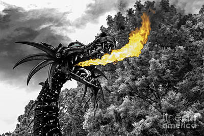 Maleficent Photograph - Dragon's Breath -hybrid by Jeffrey Miklush