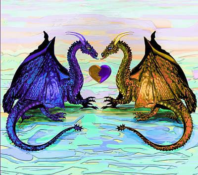 Digital Art - Dragons Love by Michele Avanti