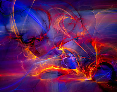Spiritual Digital Art - Dragons Nest by Modern Art Prints
