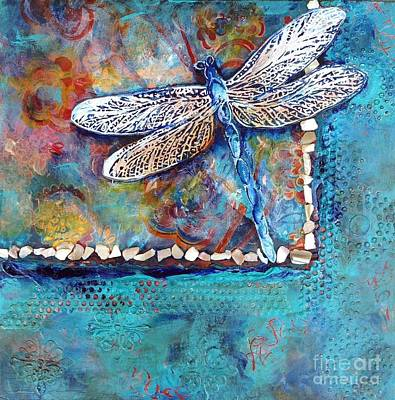 Dragonflies Mixed Media - Dragons Soar by Donna Martin