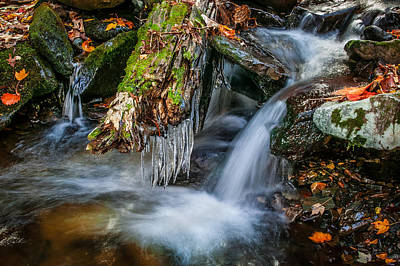 Photograph - Dragons Teeth Icicles Waterfall Great Smoky Mountains  by Rich Franco