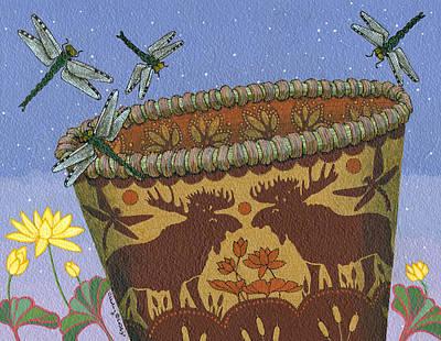 Painting - Dragonfly - Cohkanapises by Chholing Taha