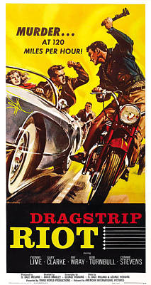 1950s Movies Photograph - Dragstrip Riot, Us Poster Art, 1958 by Everett