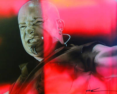 David Draiman - ' Draiman ' Art Print by Christian Chapman Art