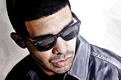 Rap Painting - Drake Artwork 1 by Sheraz A