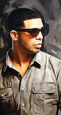 Rap Painting - Drake Artwork 2 by Sheraz A