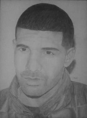Niki Minaj Drawing - Drake by Milton  Gore