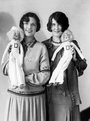 Photograph - Drake U Cheerleader Dolls by Underwood Archives