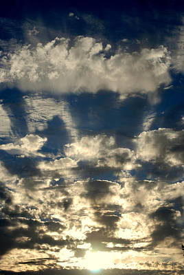 Photograph - Drama Cloud Sunset by Kathy Sampson