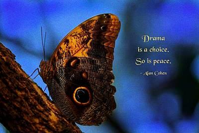 Drama Is A Choice Art Print by Mike Flynn