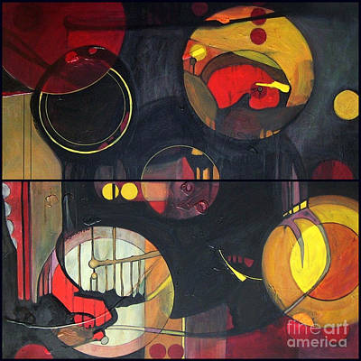 Painting - Drama Resolved 1 And 3 by Marlene Burns