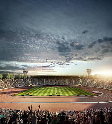 Photograph - Dramatic . Stadium With Running Tracks by Dmytro Aksonov
