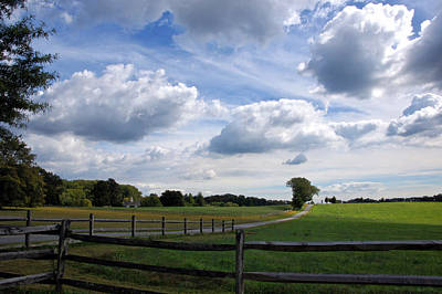Photograph - Dramatic Blustery Sky Over The Hayfield by Byron Varvarigos