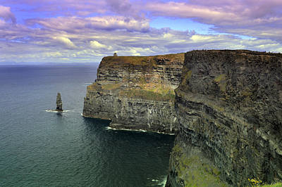 Irish Seascape Photograph - Dramatic Cliffs Of Moher. by Terence Davis
