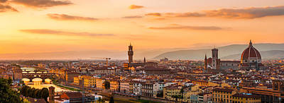 Photograph - Dramatic Florence by Gurgen Bakhshetsyan