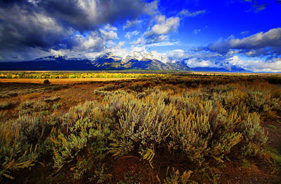 Photograph - Dramatic Jackson And Salt Lake by Richard Wiggins