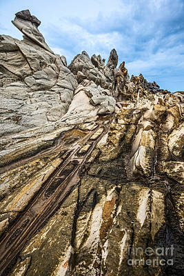 Ledge Photograph - Dramatic Lava Rock Formation Called The Dragon's Teeth In Maui. by Jamie Pham