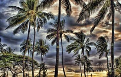 Photograph - Dramatic Maui Sunset by Peggy Hughes