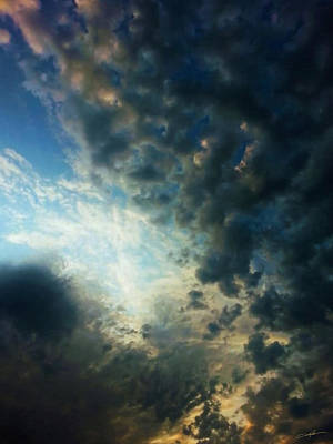 Cloudscape Digital Art - Dramatic Morning by Dale Jackson