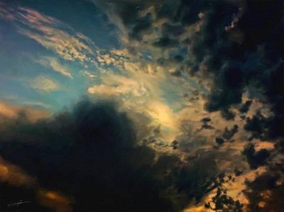 Cloudscape Digital Art - Dramatic Morning II by Dale Jackson