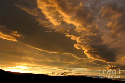Photograph - Dramatic Nightfall by Frank Townsley