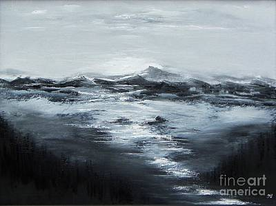 Pine Barrens Painting - Dramatic Pause by Geralyn Willingham