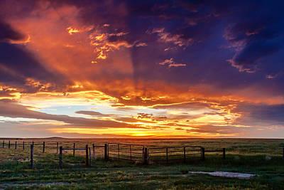 Dramatic Prairie Sunset Original
