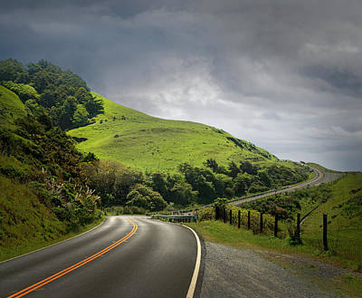 Photograph - Dramatic Road Through Hilly Country by Ed Freeman