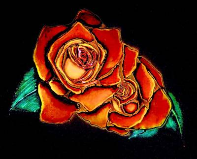Painting - Dramatic Roses by Victoria Rhodehouse
